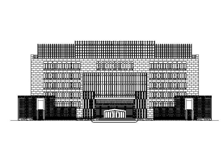 [吉林]多层现代感市级中学各教学含体育馆建筑施工图(200多张图)