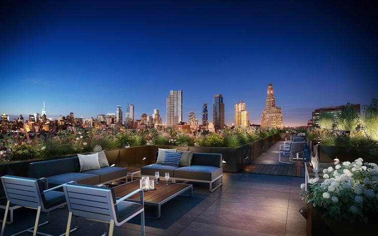 美国布鲁克林地区大楼屋顶空间改造
