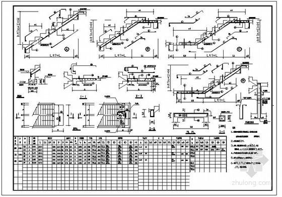某宿舍楼楼梯节点构造详图