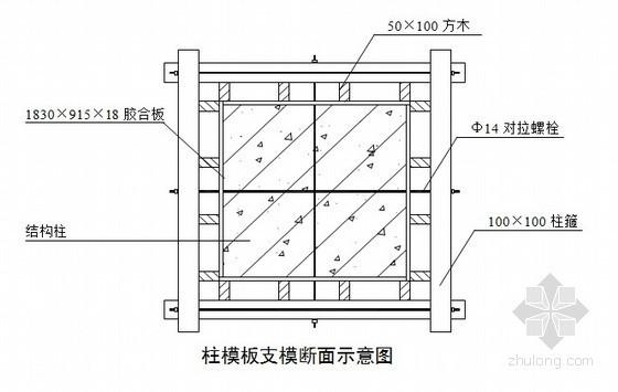 杭州某2层联排住宅胶合板模板专项施工方案