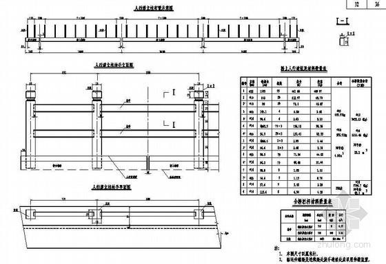 16米先张法预应力混凝土空心板桥人行道栏杆节点设计详图