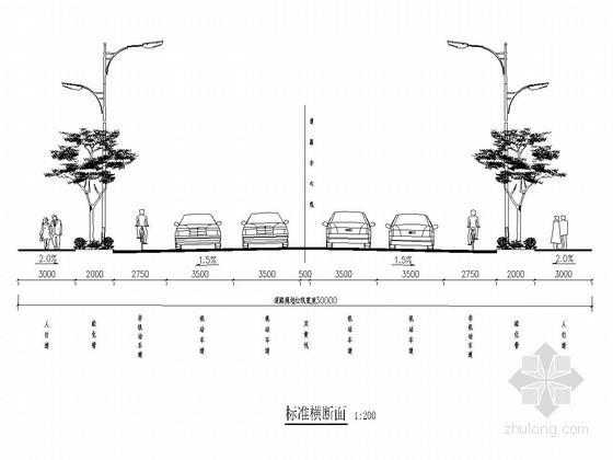 [四川]城市次干路绿化工程施工图设计