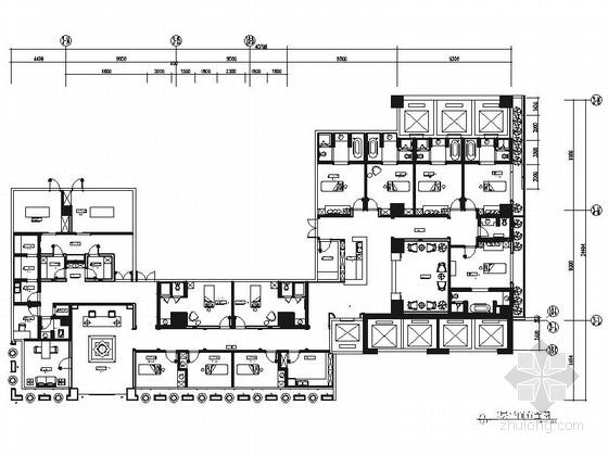 [四川]环球中心阿拉伯风格美容SPA会所室内装修施工图(含效果)