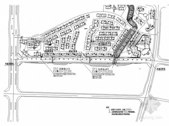 [重庆]双向四车道城市次干道全套施工图设计133张(道排 照明 涵洞)