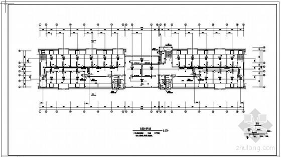 VRV系统办公平面图资料下载-某办公楼VRV空调系统平面图
