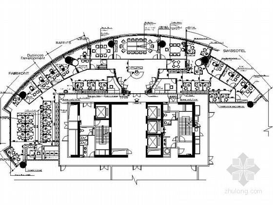 [深圳]某现代风外企办公室室内装修施工图(含设计文本)
