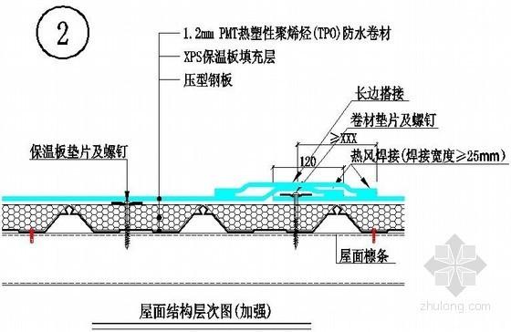 屋面结构层次图(加强)防水做法详图