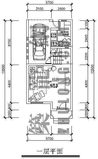 带夹层联排别墅户型平面图