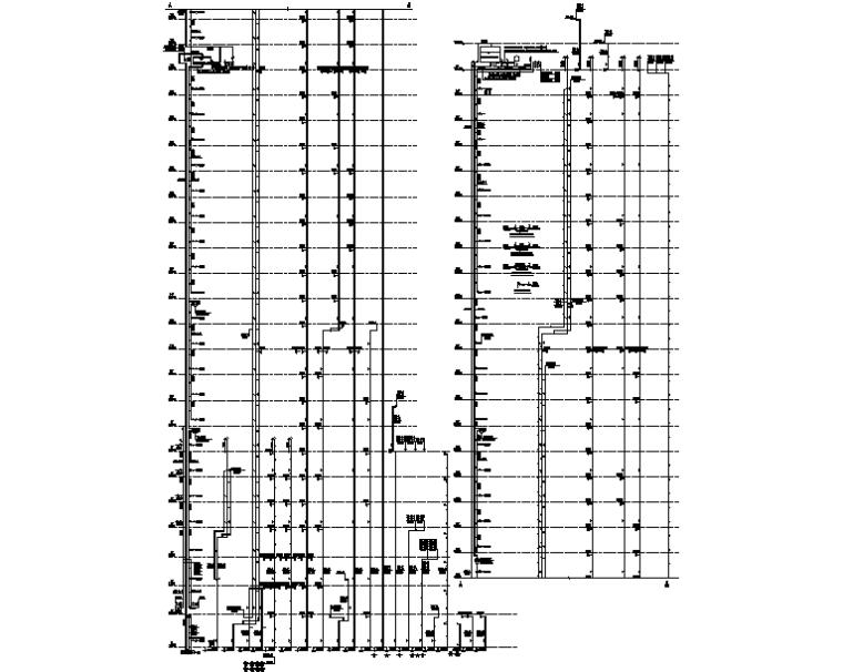 八栋给水、污废水及雨水系统图