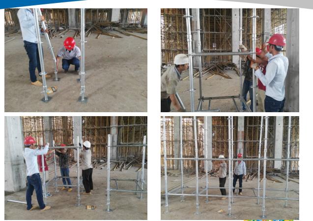 焊接水平套式格构柱承插盘扣式钢管支架施工工法