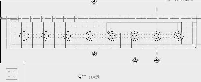 四川成都金色海蓉景观设计施工图-水景平面图