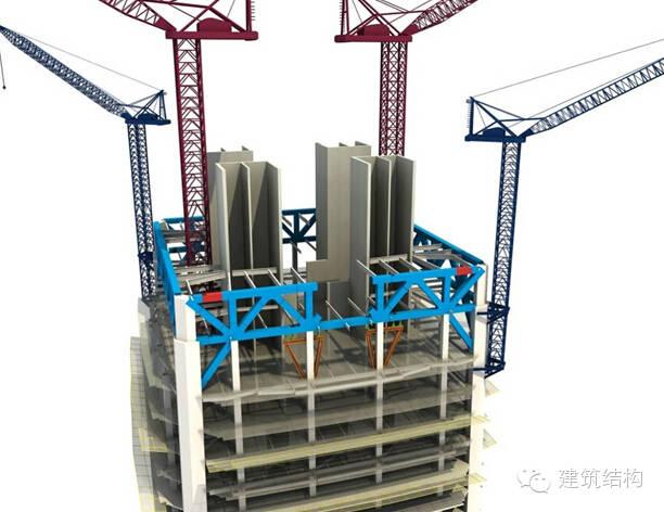 建筑结构丨超高层建筑钢结构施工流程三维效果图_15