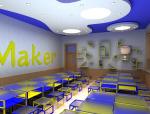 (原创)创客空间创客教室设计案例效果图