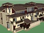 欧式风格住宅建筑设计SU模型