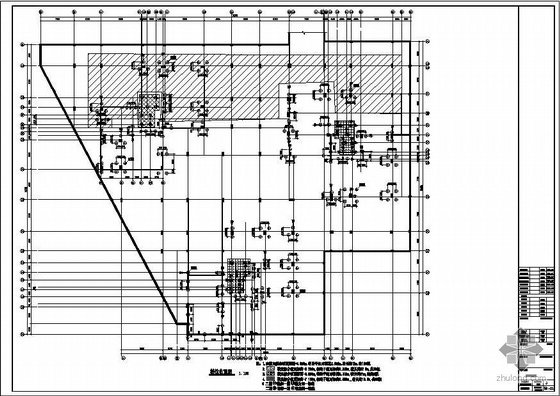 南京某带转换层异形柱结构图