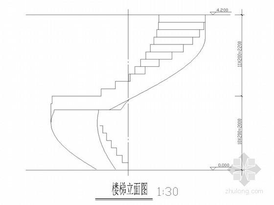 旋转楼梯结构图