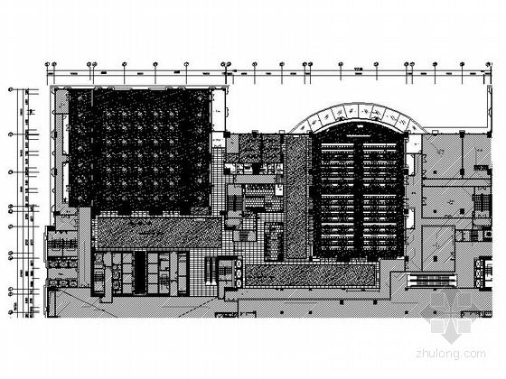 [深圳]金融中心区酒店奢华高档宴会厅装修施工图(含效果)