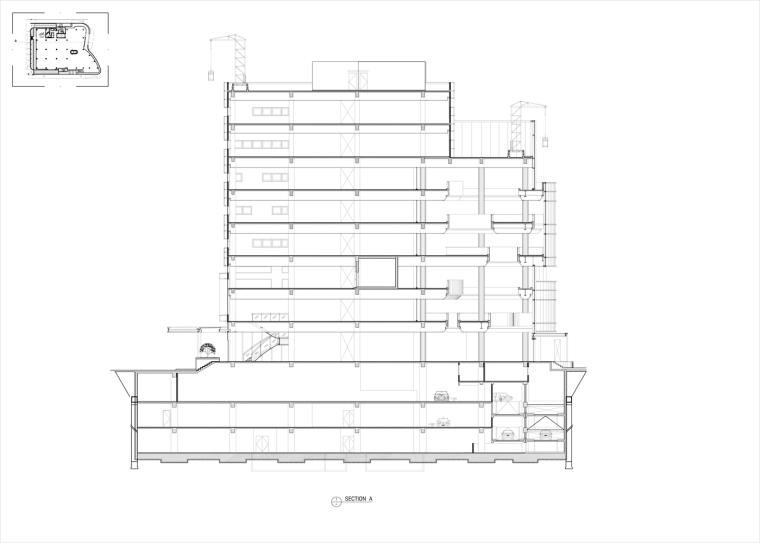 九转回环、流畅现代的车展大厅及办公楼设计_22