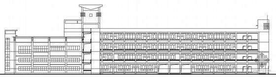 [灵昆镇]某小学体艺馆及食堂建筑结构水电施工图