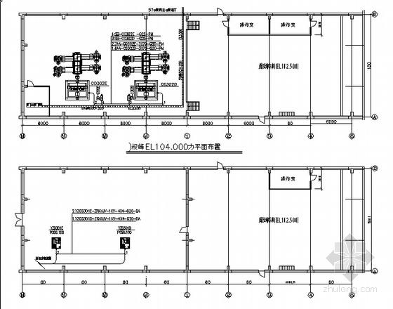 某钢结构压缩车间强电施工图
