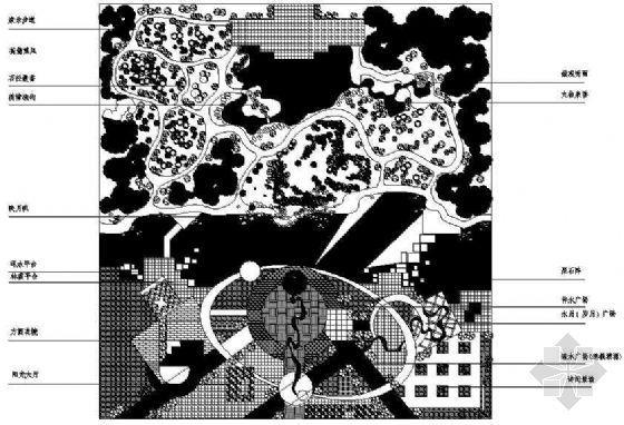 某市政广场规划平面图