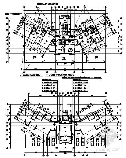 某建筑小区高层塔式住宅的强电设计图