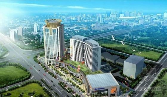 [广东]三塔框架剪力墙结构商务中心结构施工图(酒店 商务办公楼)