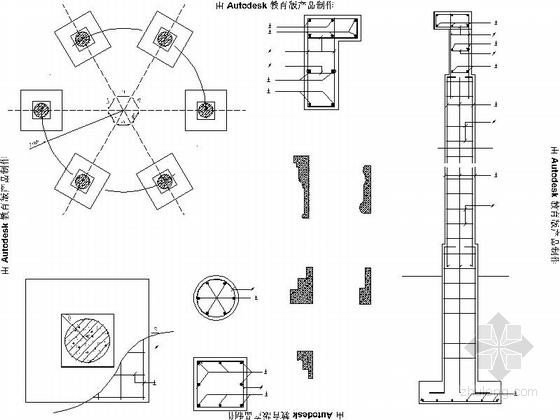 景观亭结构详图