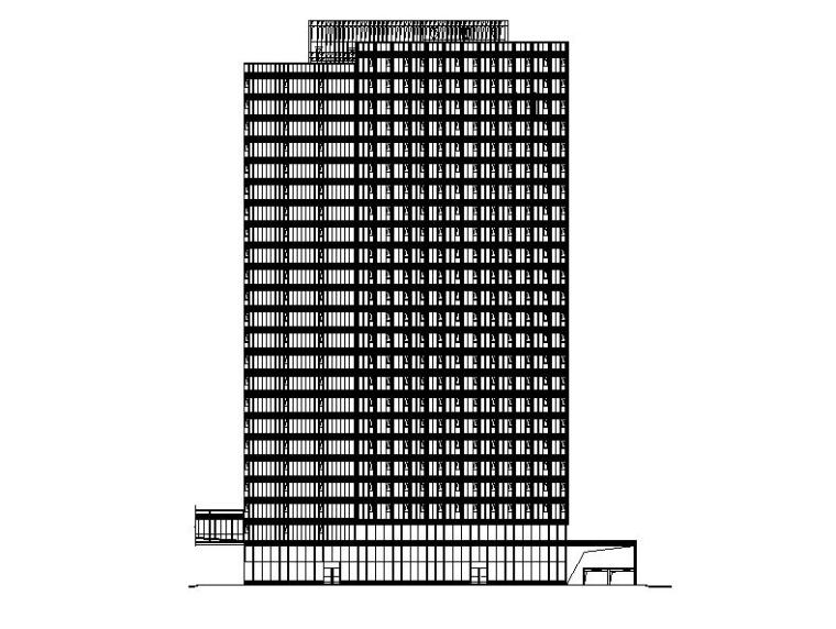 [上海]高层石材幕墙立面商业办公综合体楼建筑施工图