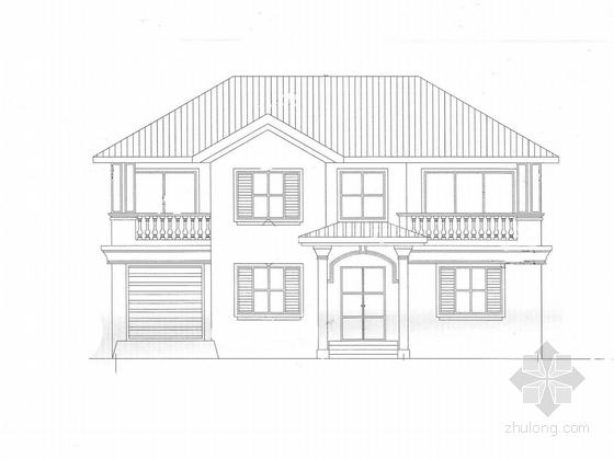 2层现代风格住宅楼规划设计施工图(含效果图及SU模型)