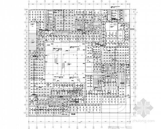 [上海]知名多层商业办公建筑给排消防施工图(气体灭火 自动喷淋)