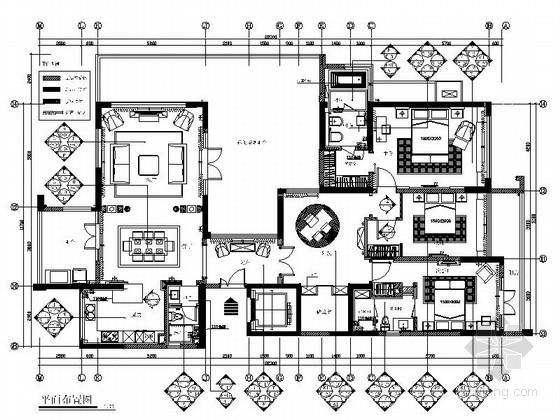 [厦门]精品花园洋房新古典四居室样板房装修图(含效果)