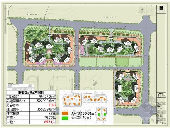 [四川]大型保障房装配式设计专题汇报-总图及技术经济指标