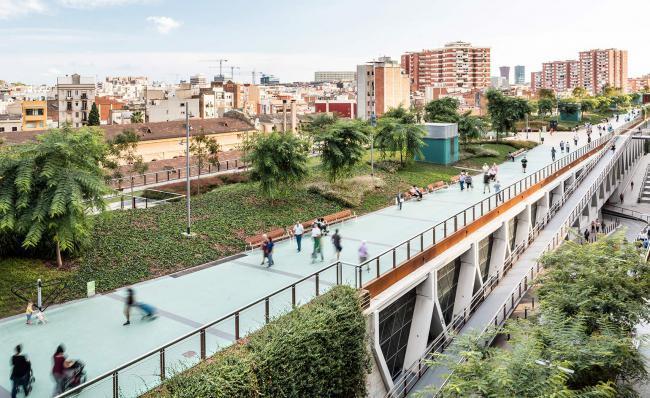 巴塞罗那也有一个高线公园-巴塞罗那高线公园