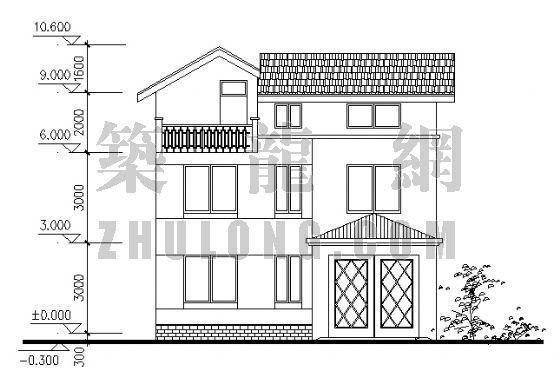 三层别墅设计方案-2