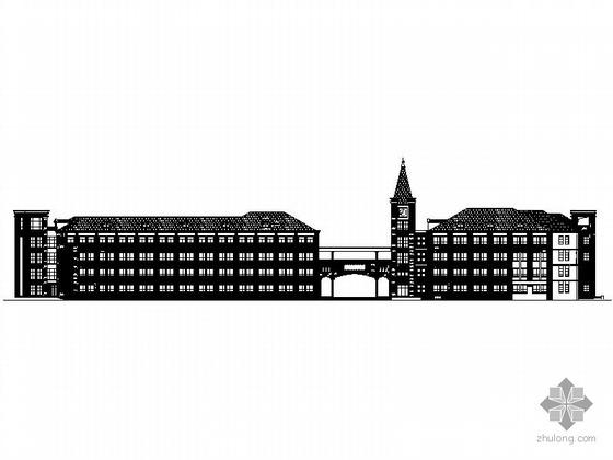 某学校欧式教学楼建筑扩初图