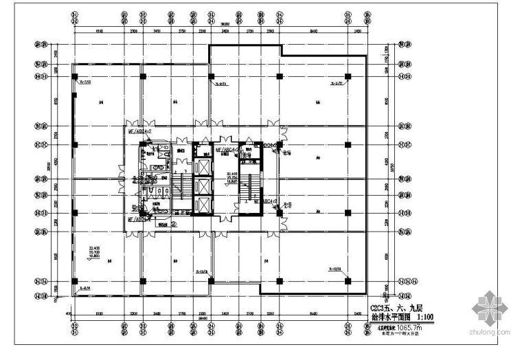 天津某高层写字楼给排水及消防设计图
