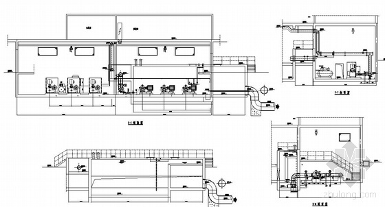 V型活性炭滤池全套施工图资料下载-某净水厂V型滤池图纸