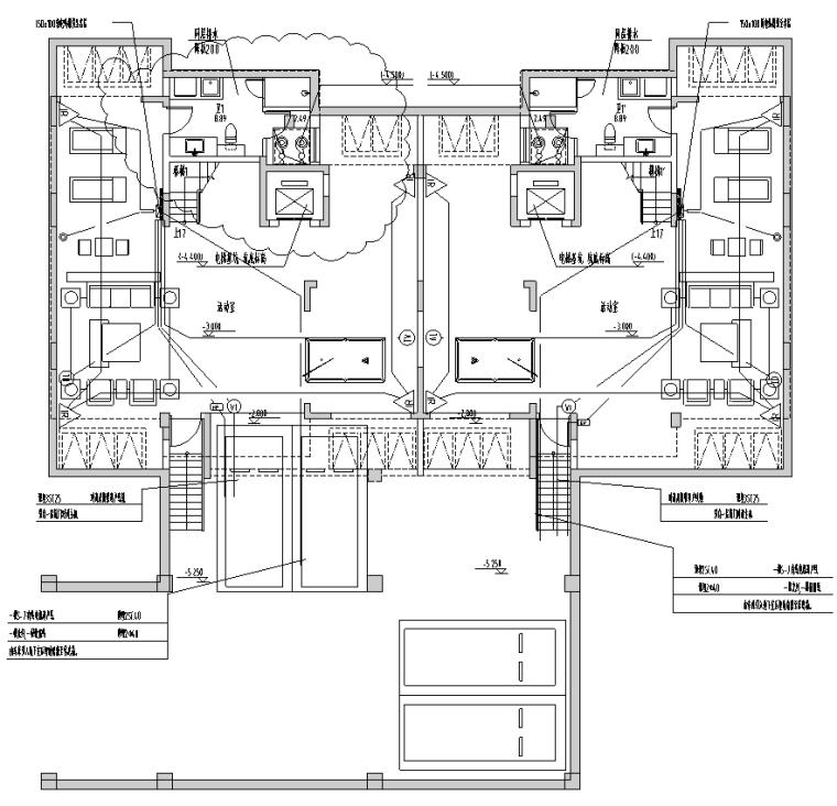 上海住宅配套商业及地库项目电气施工图