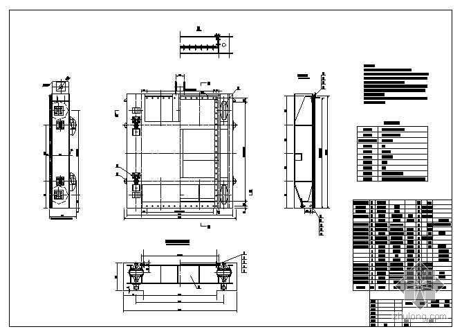 平板钢闸门施工图