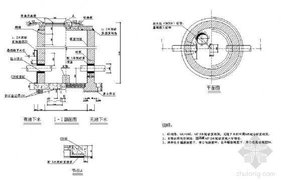 PE管、钢管阀井施工图