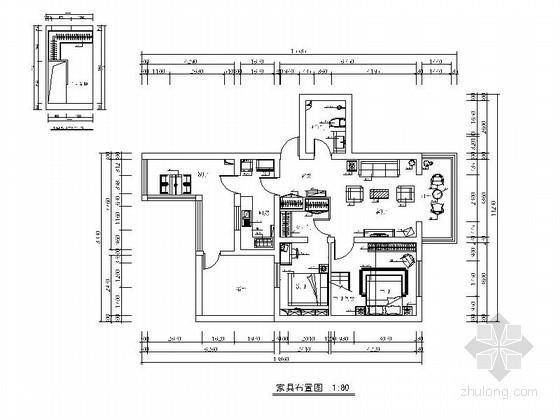 某现代简约两室两厅设计装修图