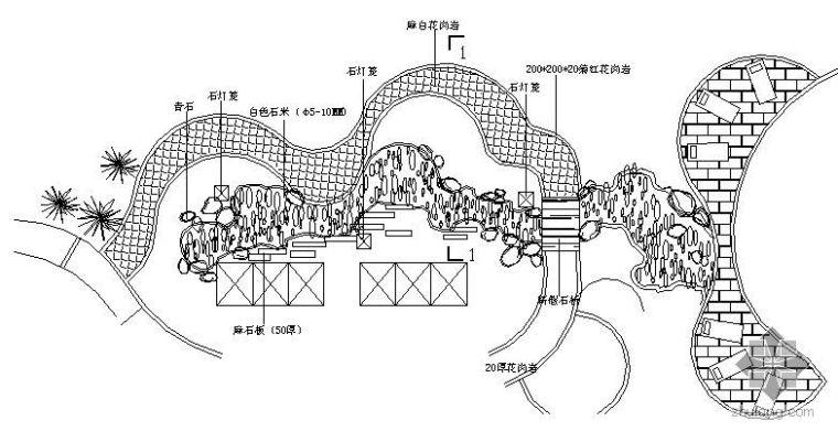 日本风情园枯山水施工详图