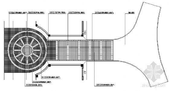 西入口节点铺装平面图