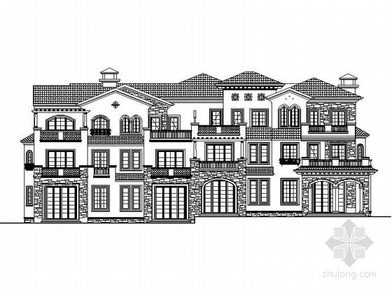 [辽宁]三层石材外墙联排式别墅建筑施工图
