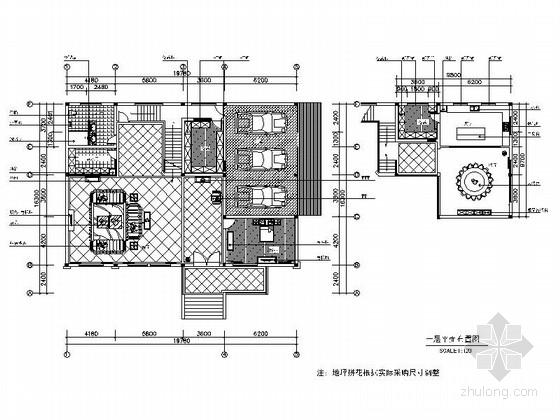 [浙江]某欧式风格别墅样板间精装修施工图(含效果)