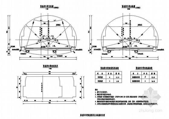 复合式衬砌隧道紧急停车带建筑限界及内轮廓节点详图设计