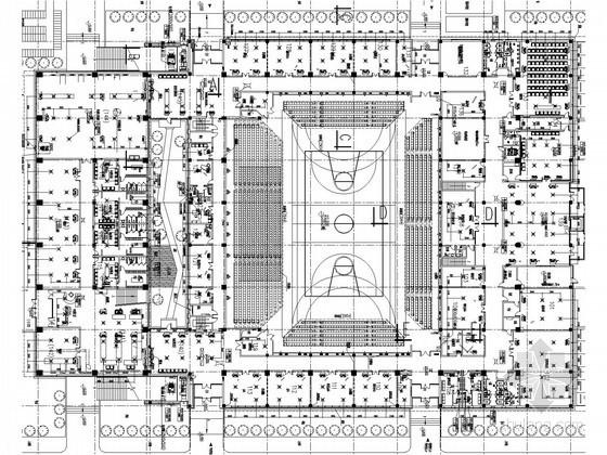 [天津]著名大学院校体育场馆空调通风系统设计施工图(地源热泵系统)