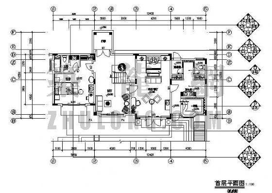 某二层别墅装修图