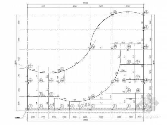 两层钢框架办公楼结构施工图